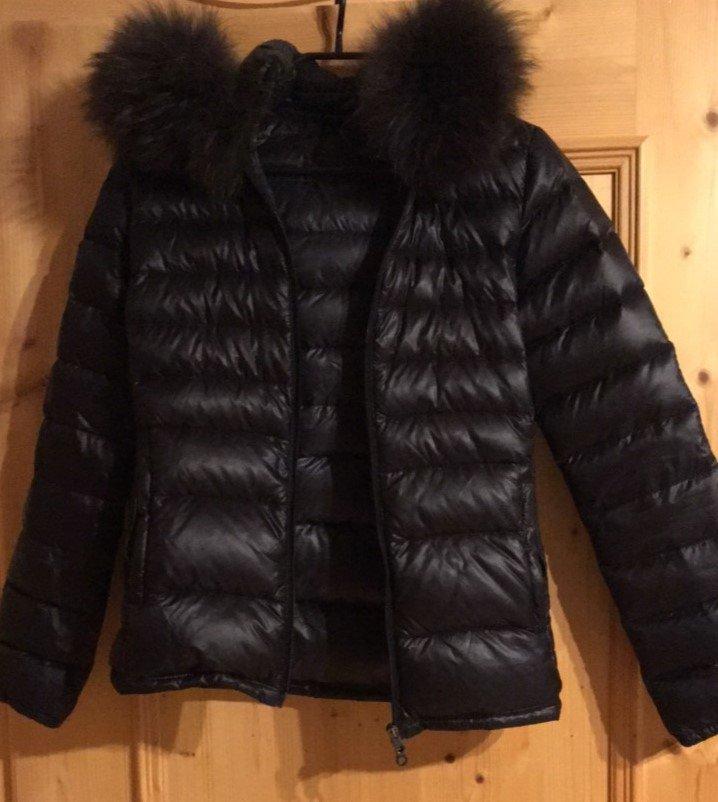 schwarze jacke mit echtpelz