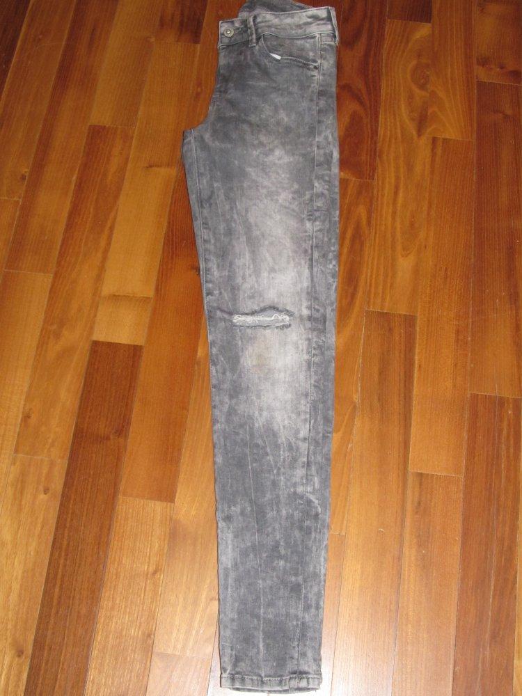 Pepe Damen Jeans Pixie Hose Jeansjeggings Skinny Röhre W27 L30 grau  Neuwertig ! 568225243d