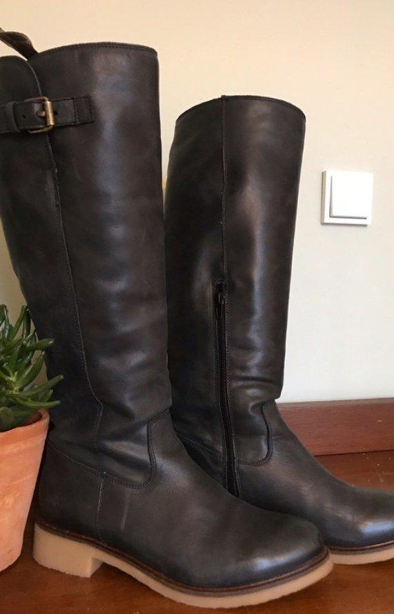 low priced e5107 5bb3c Cox gefütterte Stiefel grau - schwarz 40 neuwertig