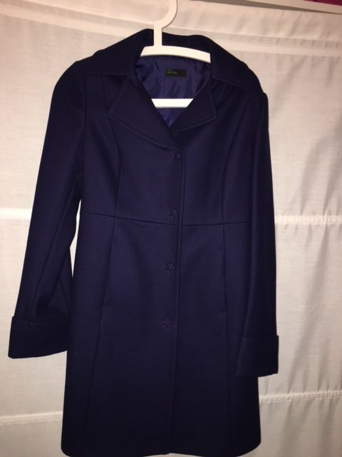 Benetton Wollmantel In Marine Blau Gr 36 Gr S Neu Mantel