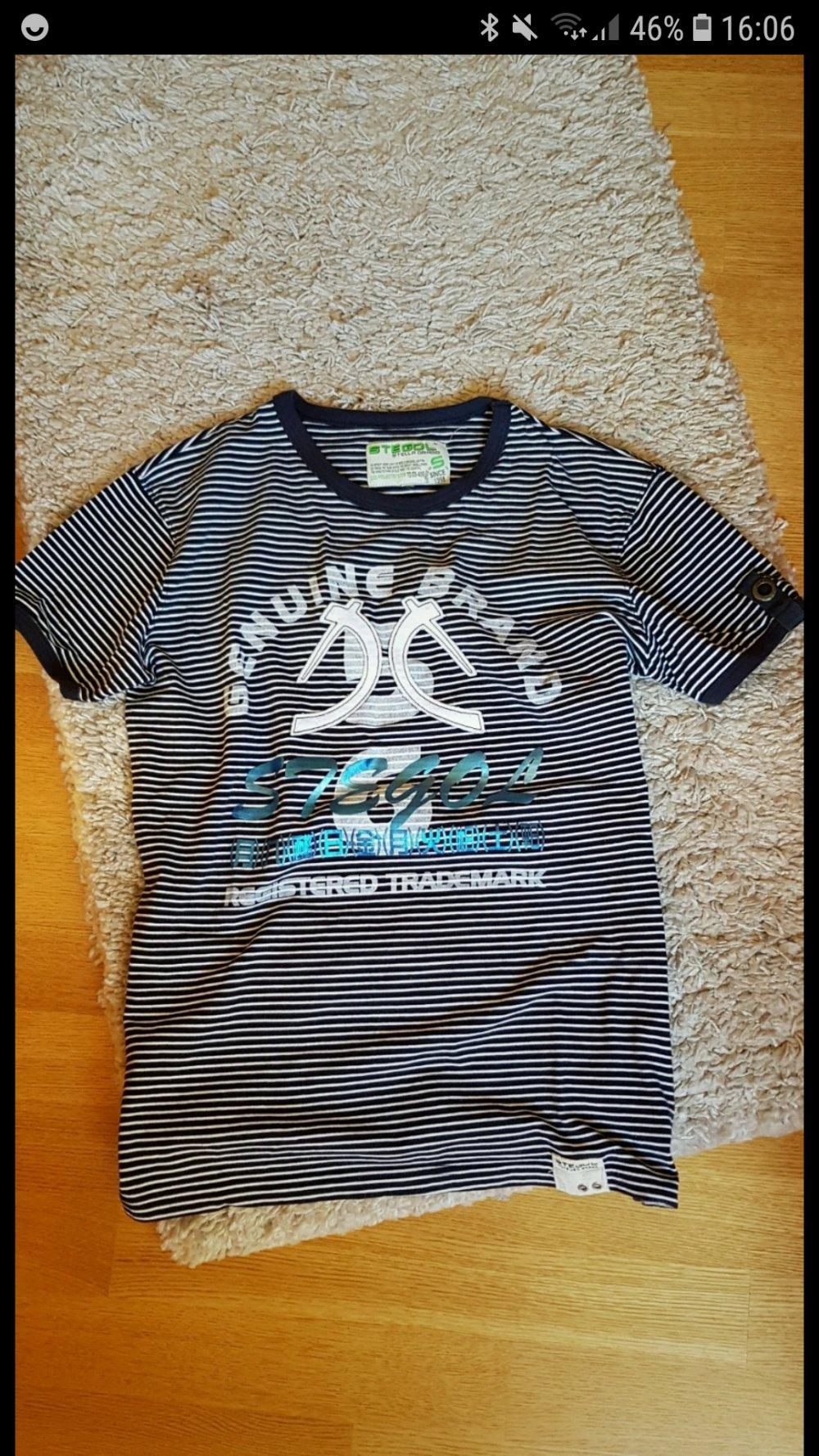 Destroyed-Shirt mit verzierten Schrift-Print weiß