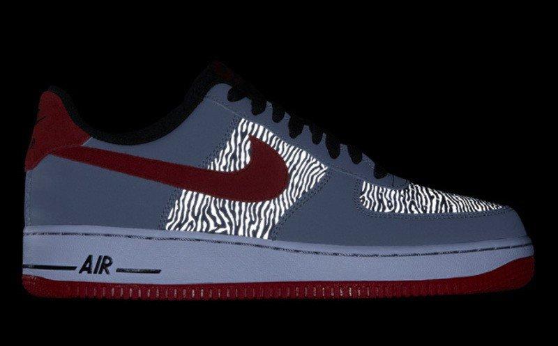 Nike Air Force One Low Zebra Reflective Grösse 39
