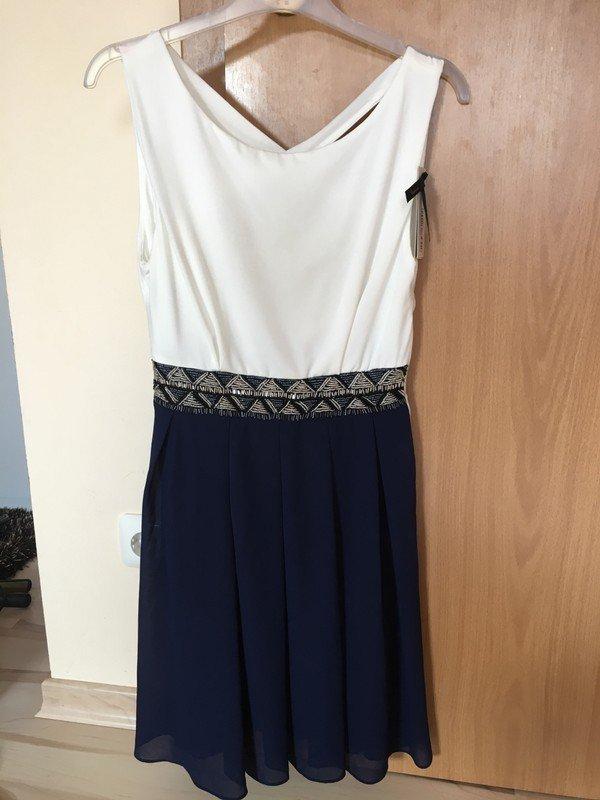 TFNC - Kleid Blau Perlenverzierung Cocktailkleid / Party Kleid Neu ...