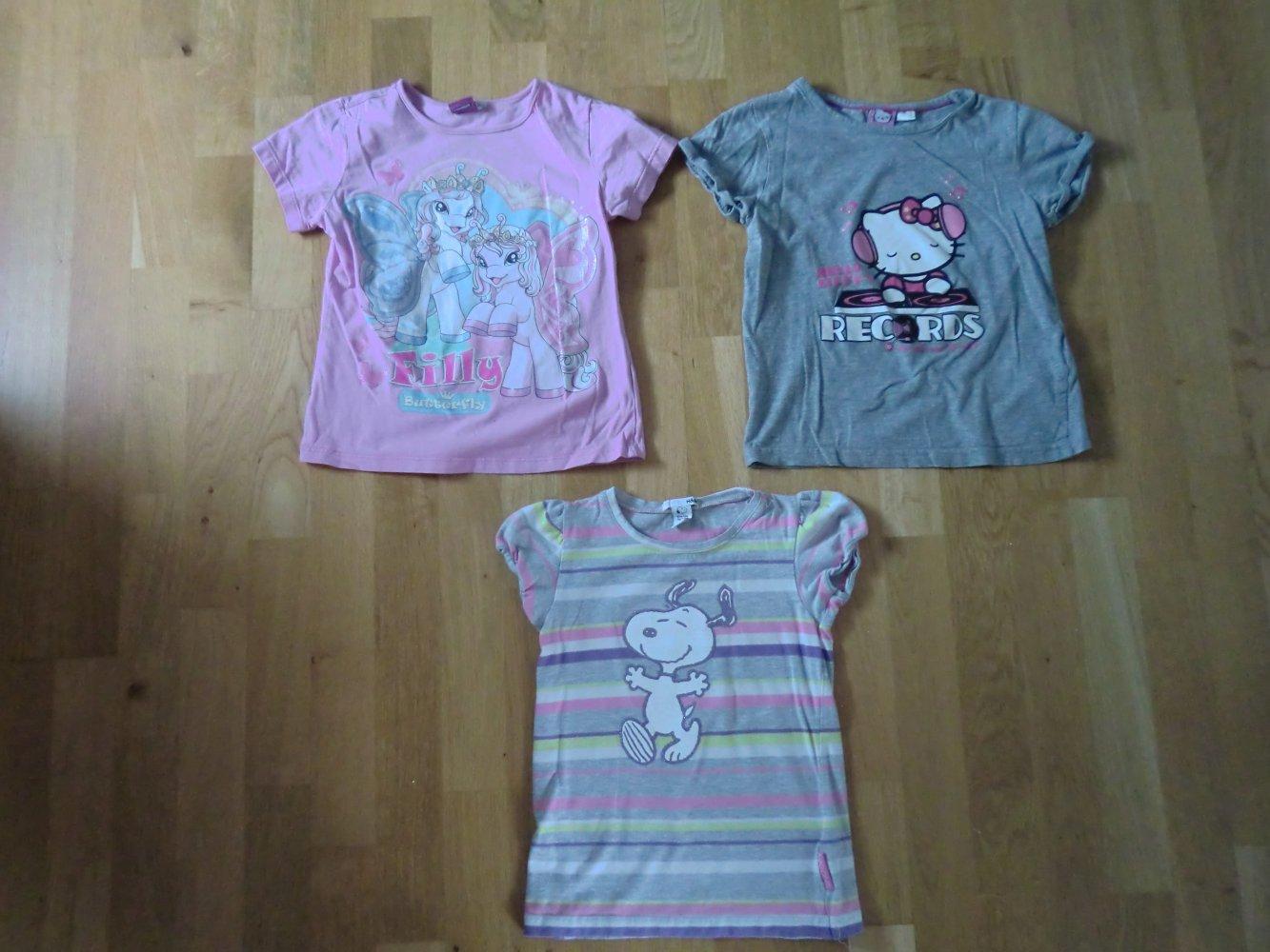 208c5d6d274480 H&M - 3 süsse T-Shirts für Mädchen Snoopy Hello Kitty Filly ...