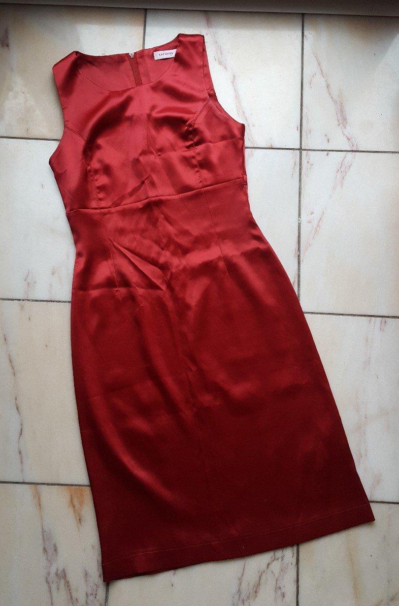 Orsay Kleid Satinlook rot
