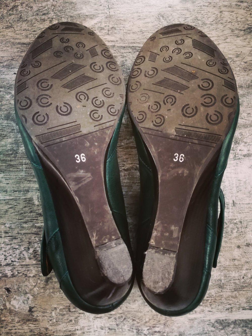 Görtz Shoes Keilabsatz Pumps Leder dunkelgrün 36    Kleiderkorb.de d00b7fa7ad
