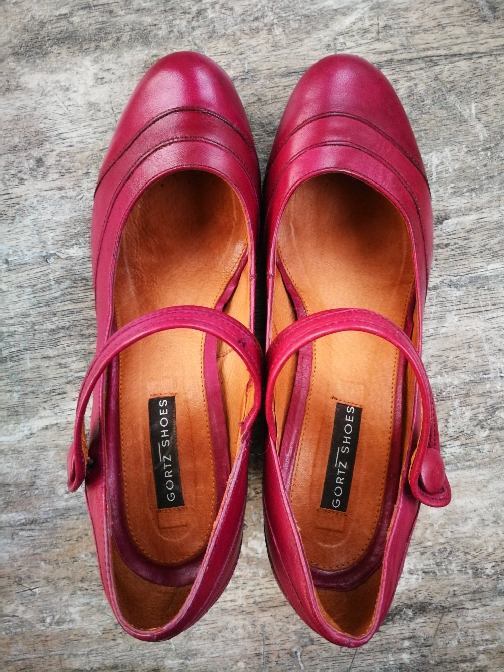 Größe Shoes Keilabsatz Leder Pumps 36 Görtz Rot sdtQhr
