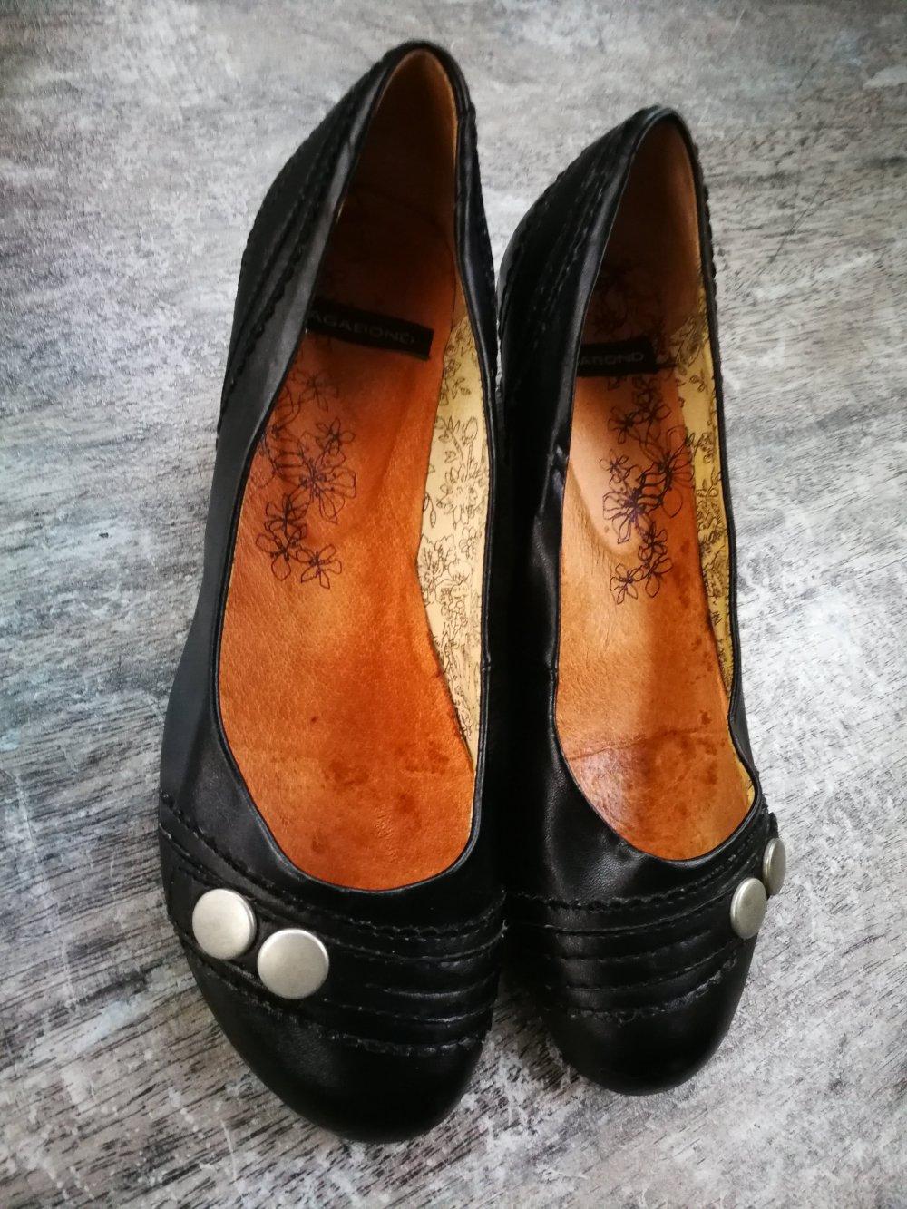 vagabond - VAGABOND Ballerinas   Pumps mit Keilabsatz schwarz Leder ... d136281fd5