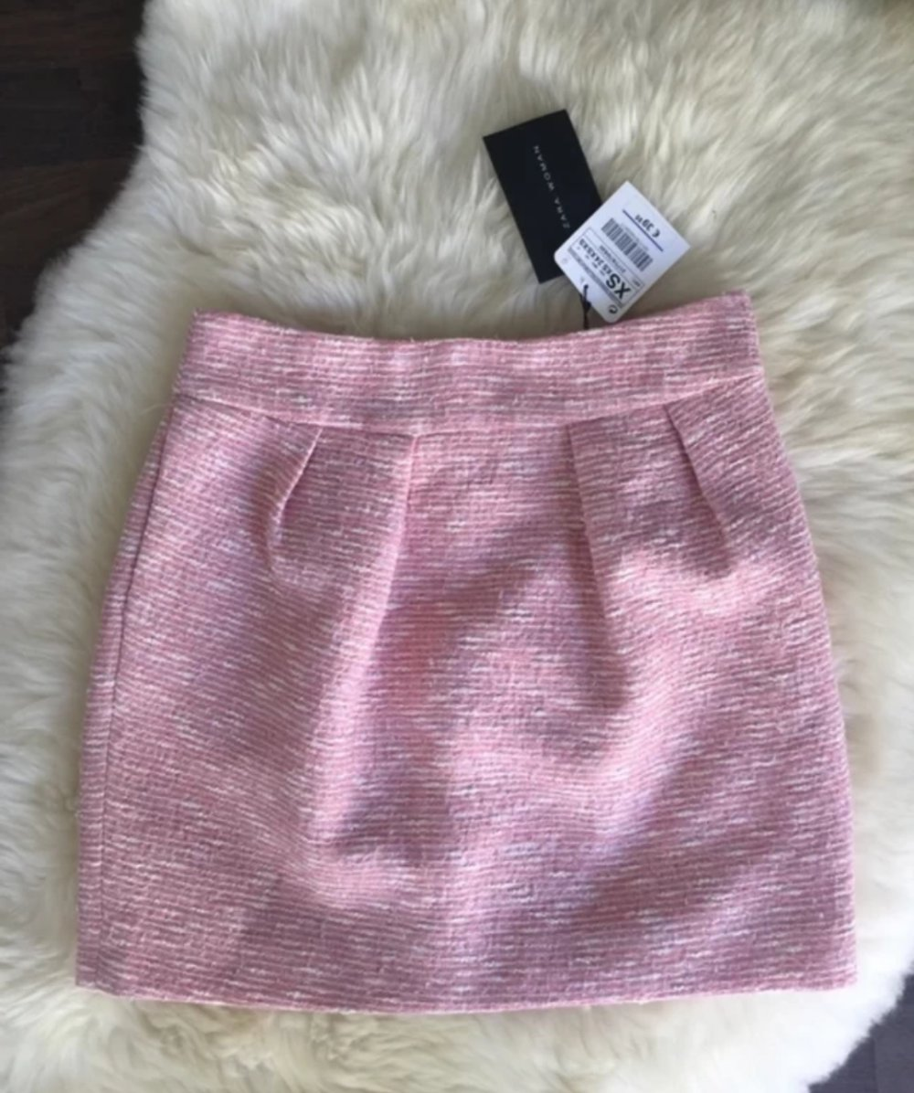 outlet store 51bb6 e582c Tweed Rock ZARA rosa 34