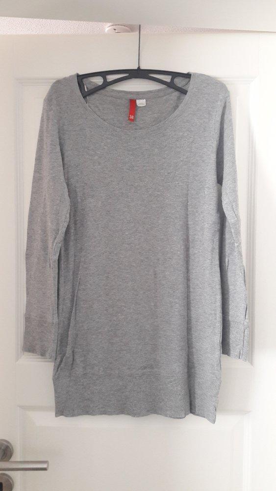 H M - grauer, langer Pullover    Kleiderkorb.de f79cb64c8d