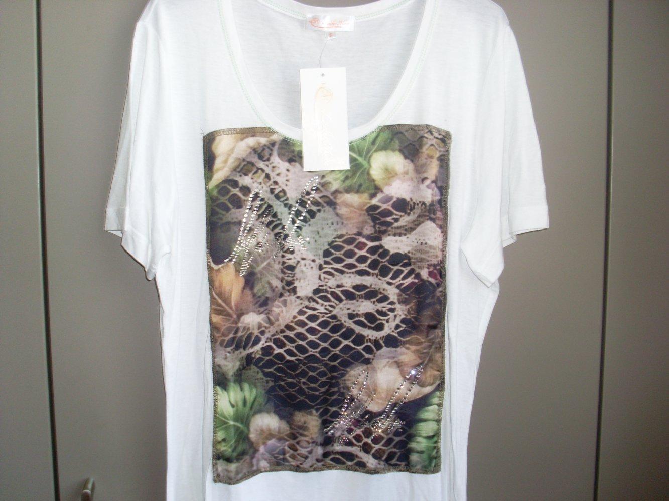 c8356ecc3ebc45 Lieber Mode NEU: Damen T- Shirt weiß mit Muster Gr. S v. Lieber Mode .