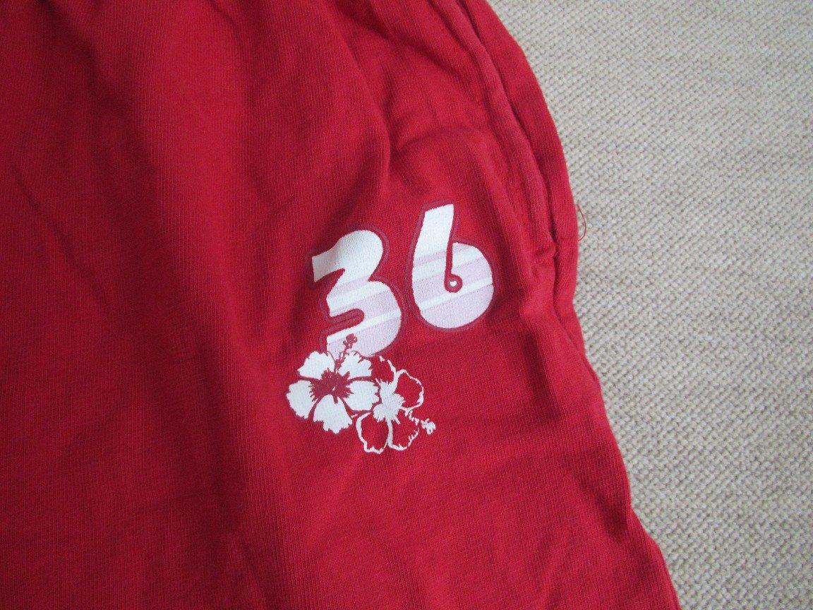 knielange Hose Shorts Gr. 104 110 mit Aufdruck 36 in rot von charivario ... dd4ea675ac