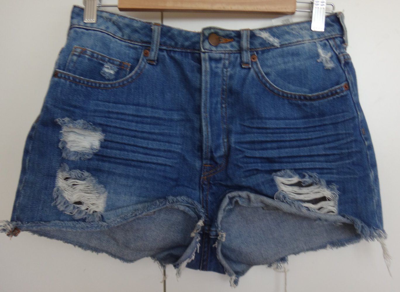 Hotpants Jeans Highwaist - H M Grösse 38    Kleiderkorb.de 7ed2d8555e