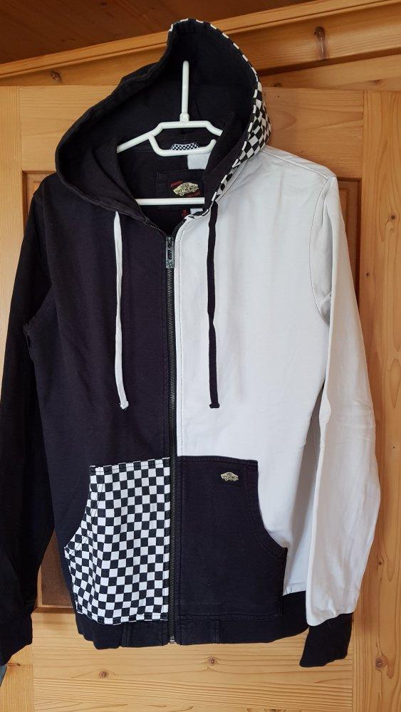 Sweatjacke Zip Hoodie Vans Schwarz Weiss Gr. S    Kleiderkorb.de c0a60ff62f