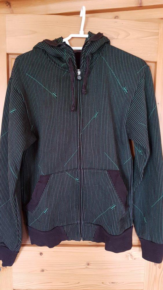 Sweatjacke   Zip Hoodie Element Grün + Schwarz    Kleiderkorb.de e0099f2f53