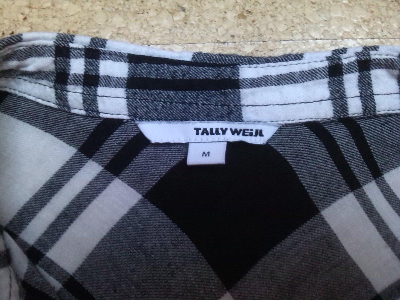 166412f30900 ... Damen Hemd Bluse schwarz weiß kariert Gr. 36 M Tally Weijl ...