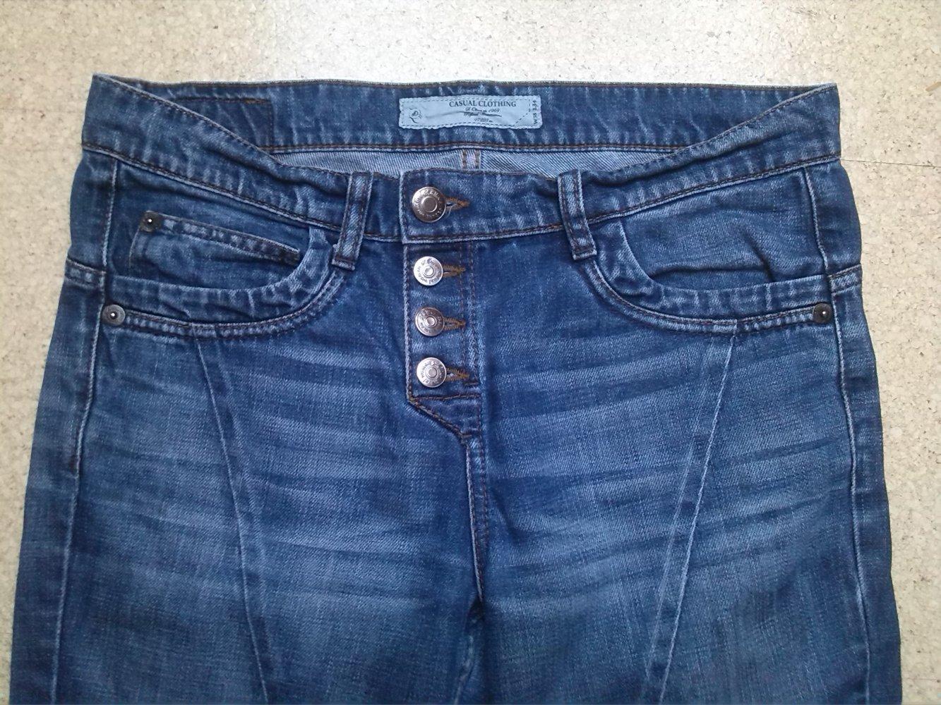 Straßenpreis schön und charmant hohe Qualität Damen Jeans Boyfriend blau Gr. 38 / 34 S. Oliver casual used look