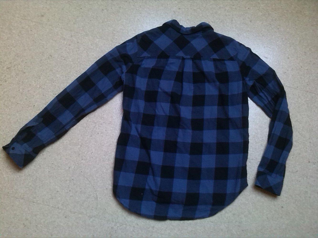 Damen Hemd Bluse H M blau schwarz kariert Gr. 34    Kleiderkorb.de 15ca369ad0