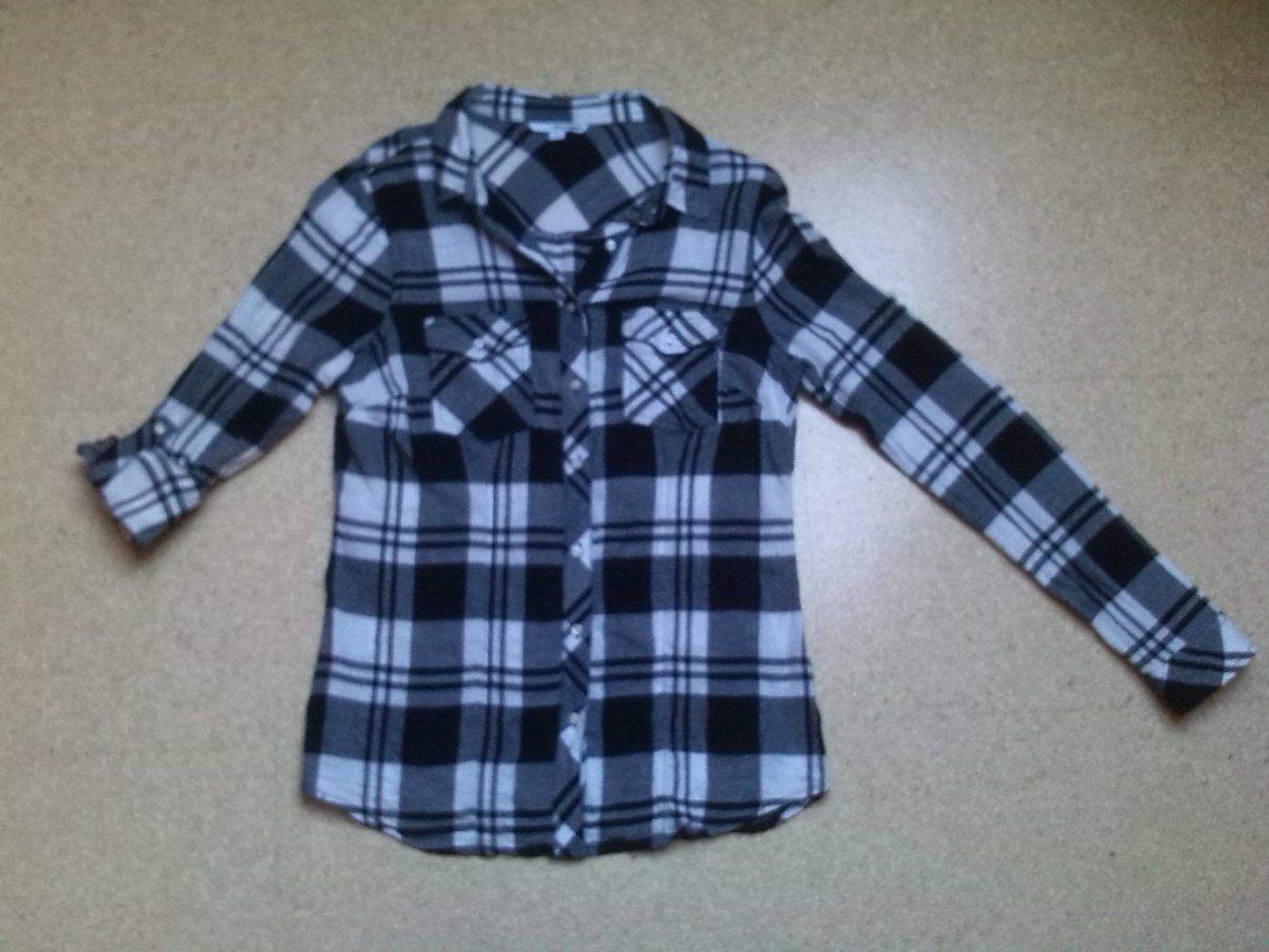 417019f88554 ... Damen Hemd Bluse schwarz weiß kariert Gr. 36 M Tally Weijl .