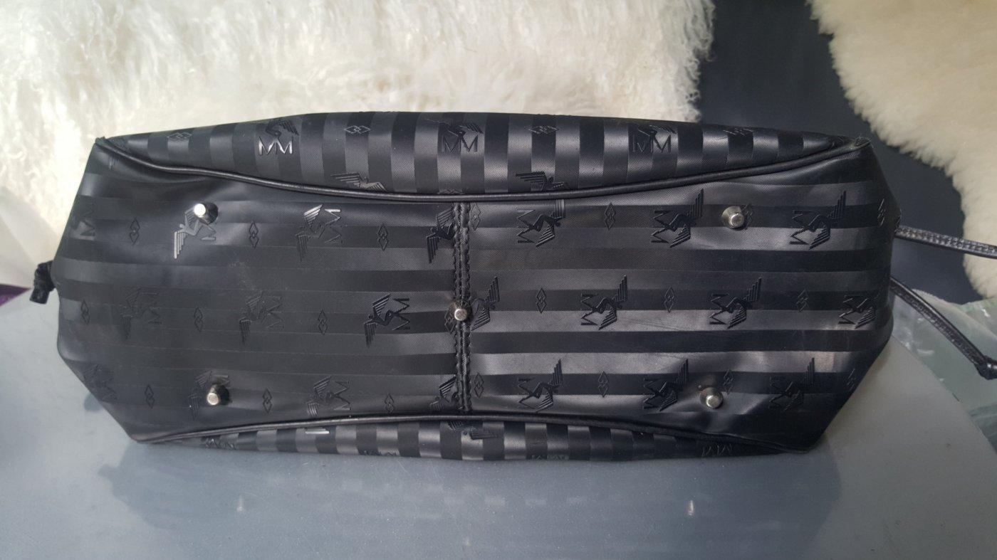 Original Maison Mollerus Tasche Large schwarz silber