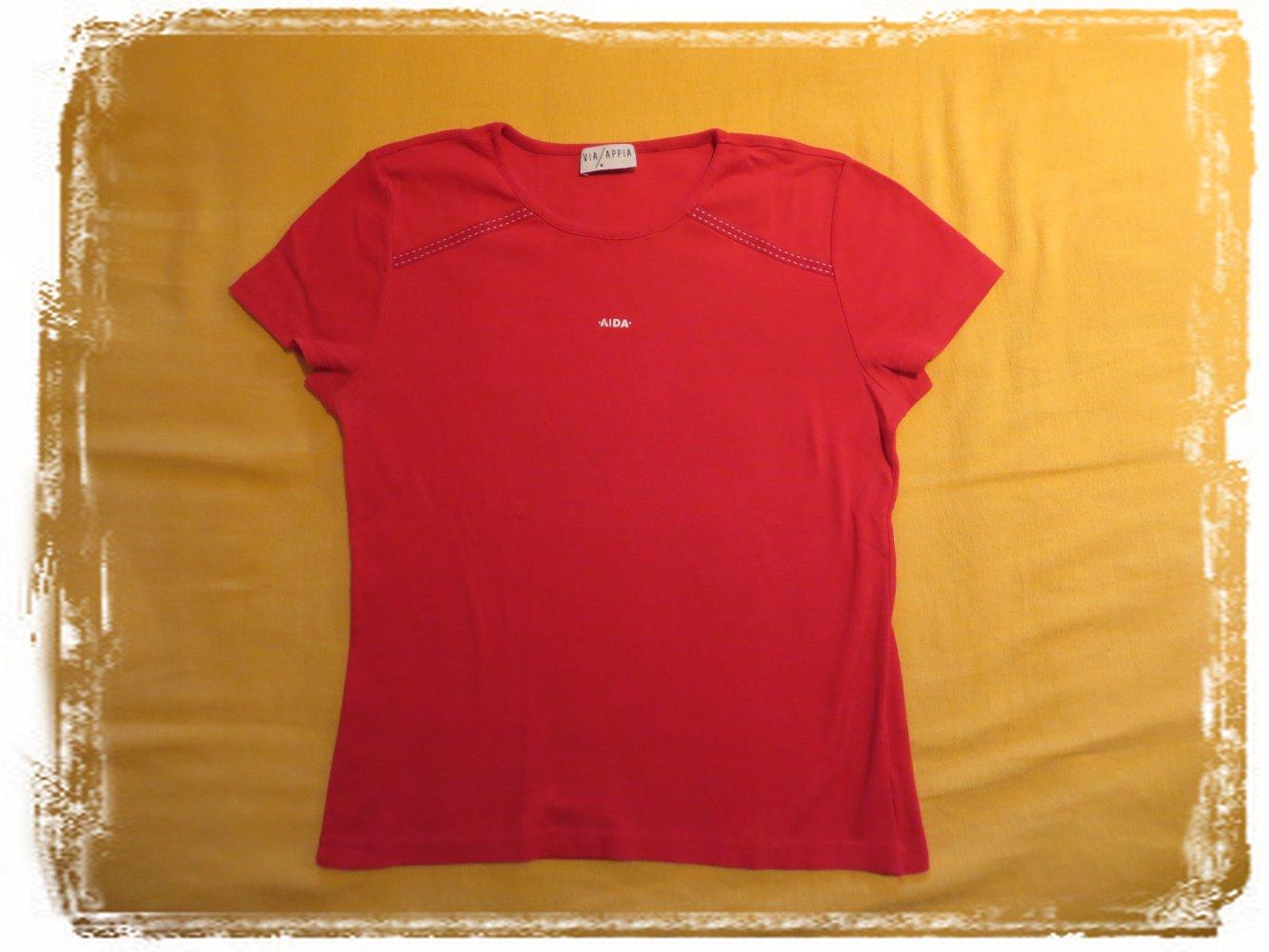 6218bbbcccf9cb ... Flottes knallig rotes Damen T-Shirt mit AIDA Print Größe S für  Kreuzfahrten .