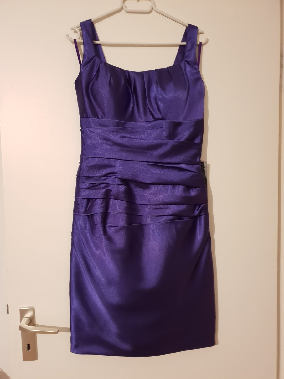 6173cfa8e3a0 IZIDRESS - Knielanges Cocktailkleid, Abendkleid, Satin XS ...