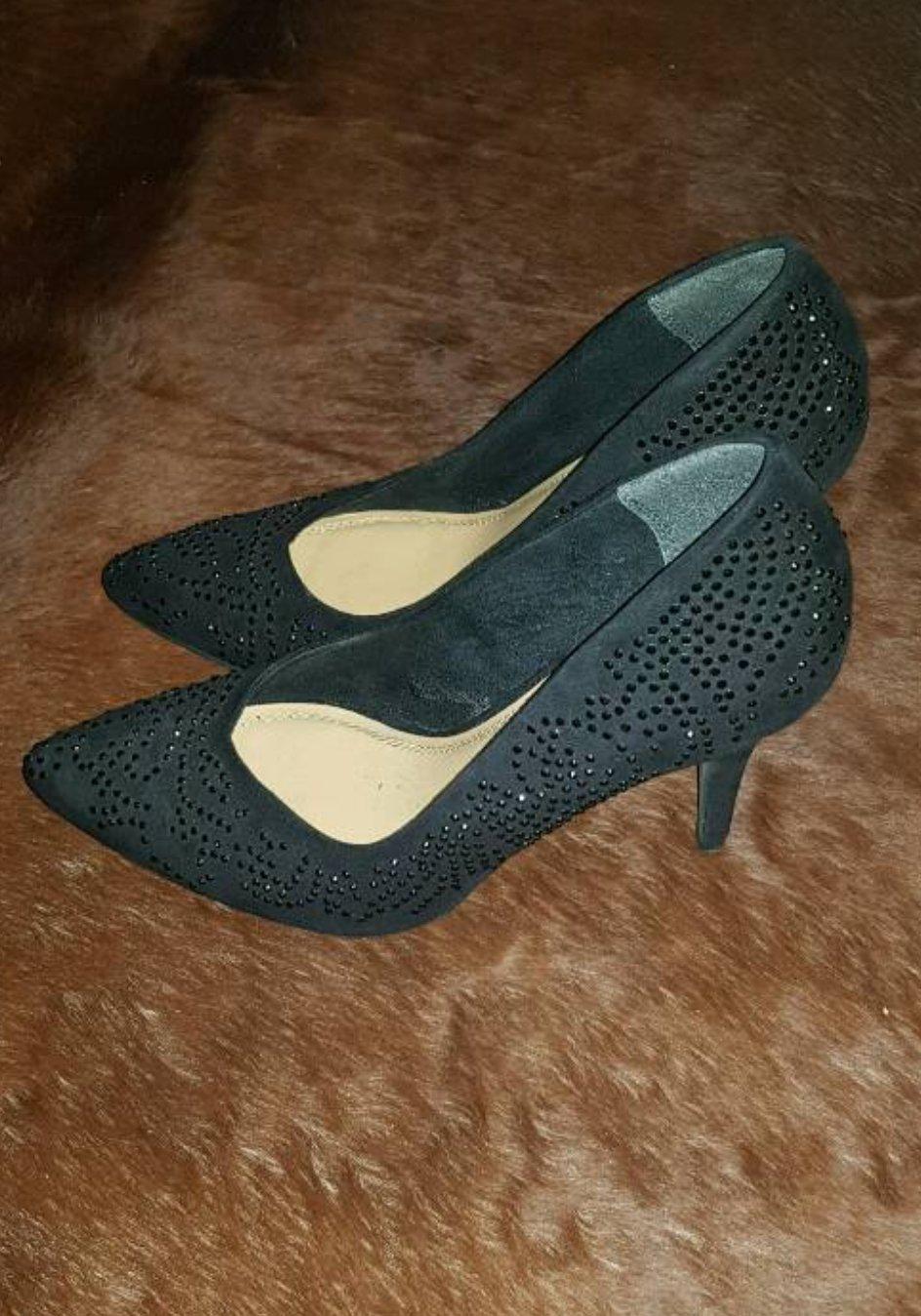 e1038790b12191 yessica - Schöne schwarze High-Heels mit Glitzersteinen ...