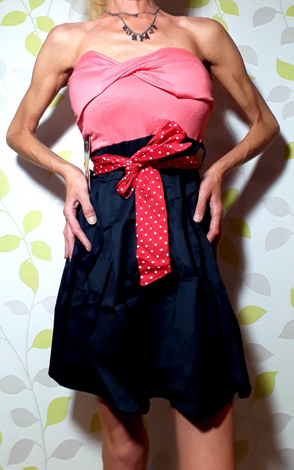 Keine Marke Neu Rockabilly Marilyn Monroe Pin Up Girl Bandeau Kleid Gr S 36 Mini Dress Kleiderkorb De