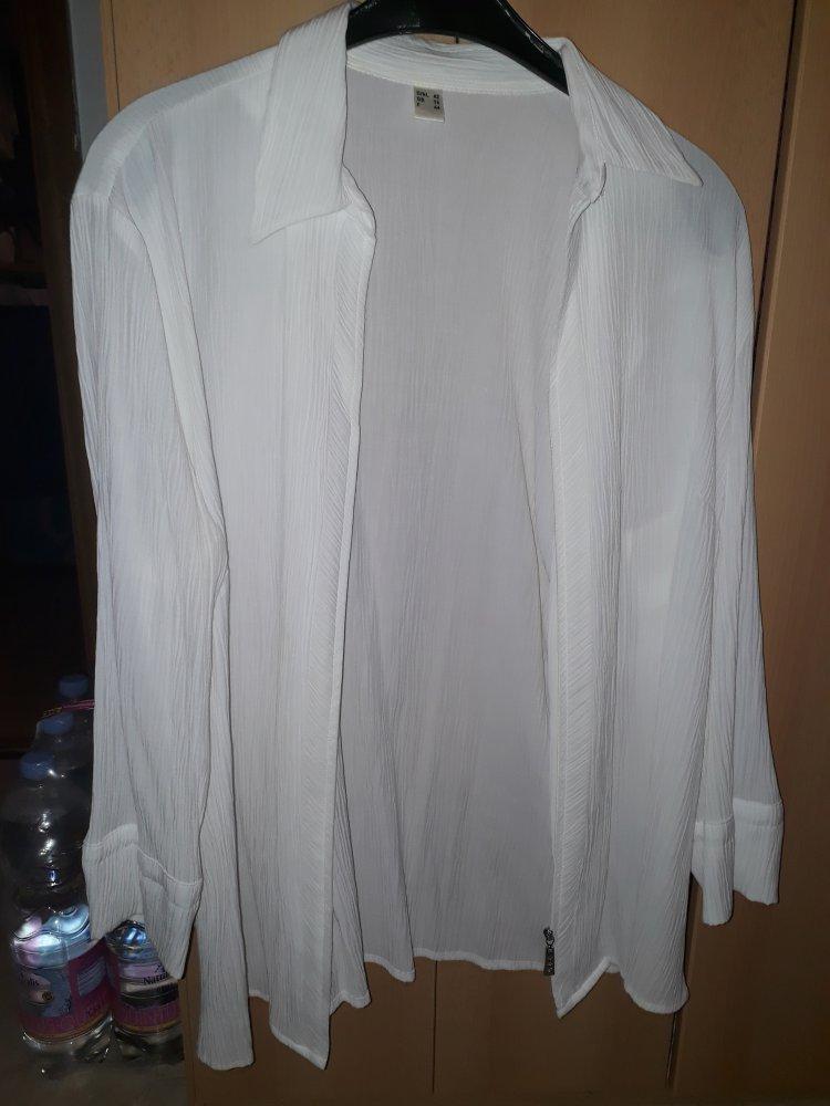 0a55db07478586 Schöne weiße Bluse mit Diamanten Reiß Verschluss :: Kleiderkorb.de