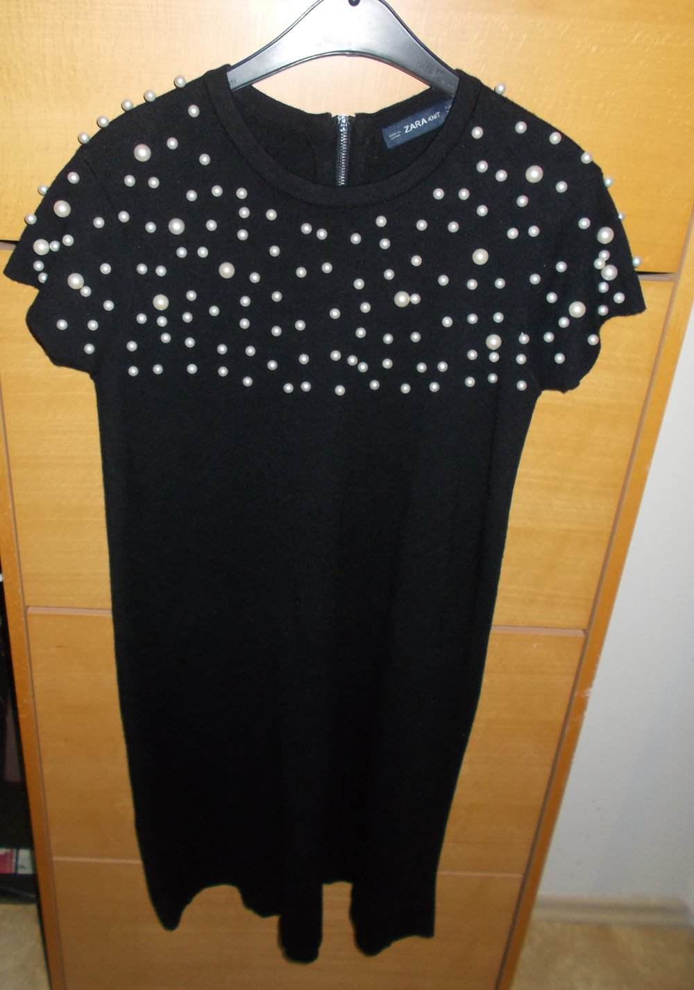 zara knit schwarz kleid good 62382 a4323