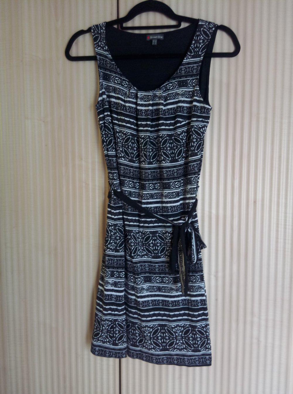 new concept e6d87 ae784 Street One Kleid Aber Kleid schwarz weiss gemustert Größe 34