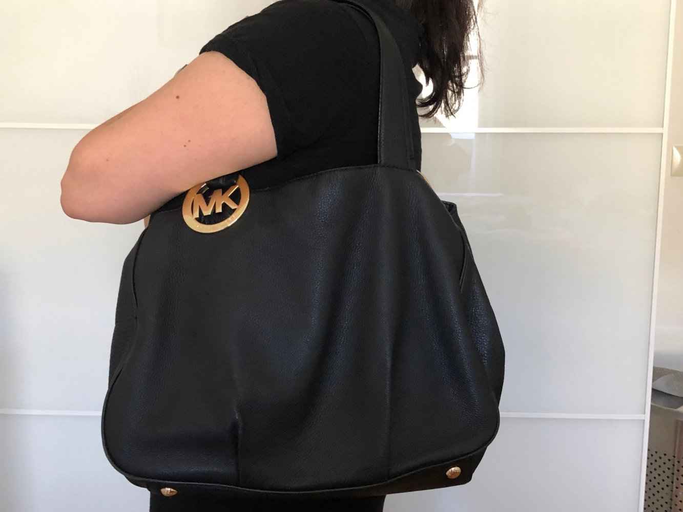 Neuankömmling günstiger Preis gesamte Sammlung Michael Kors Tasche (schwarz) aus weichem Leder