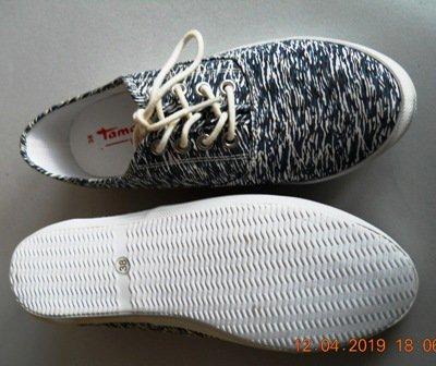 Weiße Stoffschuhe Schuhe von TAMARIS Gr. 38