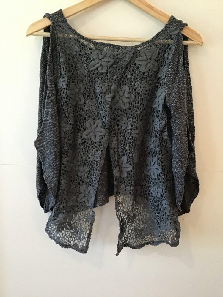 heiße Produkte besser modisches und attraktives Paket rückenfreie Bluse mit Spitze