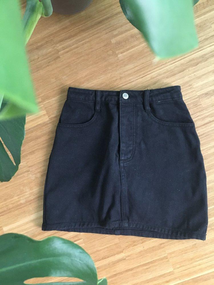 buy popular 9f04d 2b3e4 Schwarzer Mini Jeans Rock