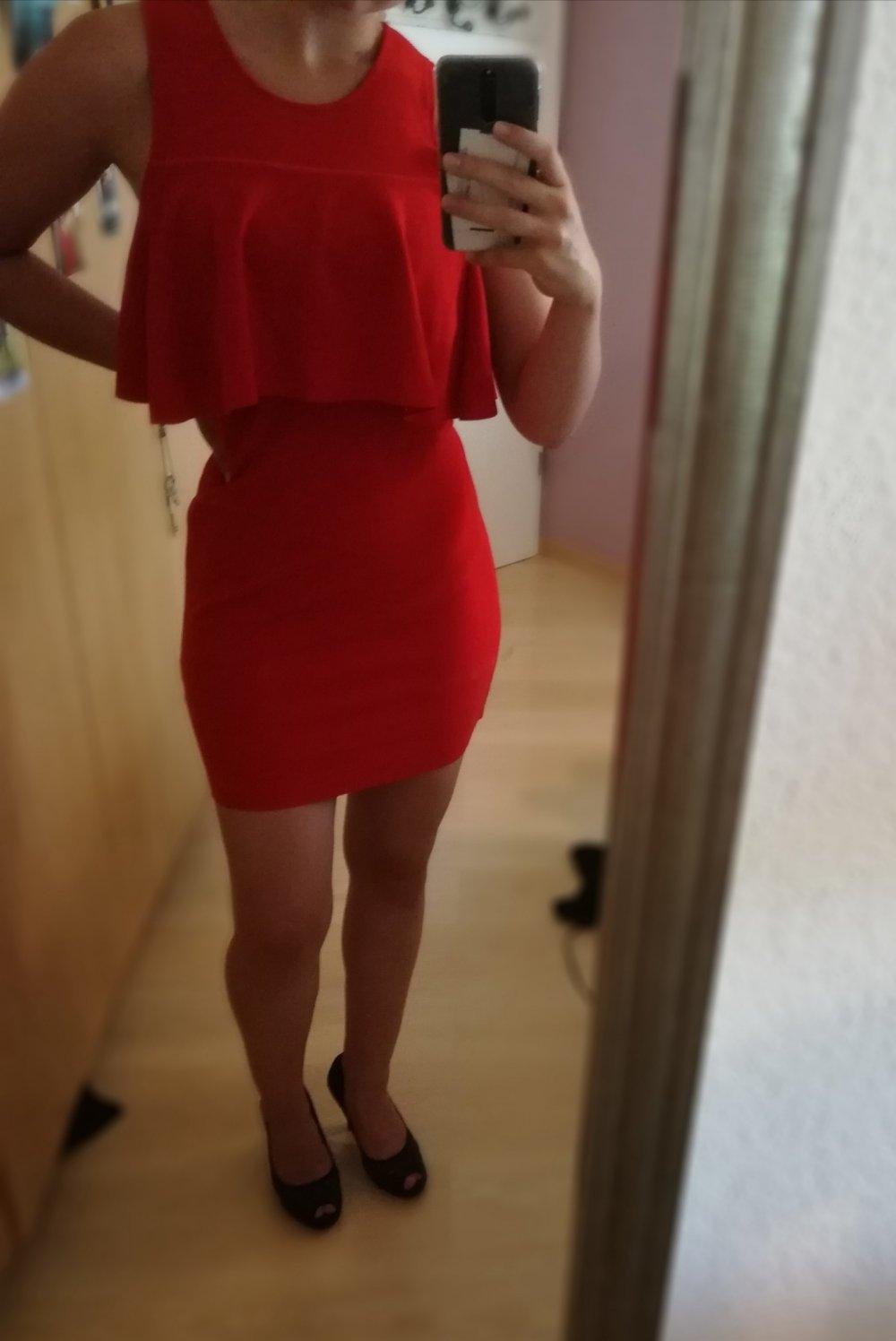 elegantes zara kleid in rot :: kleiderkorb.de