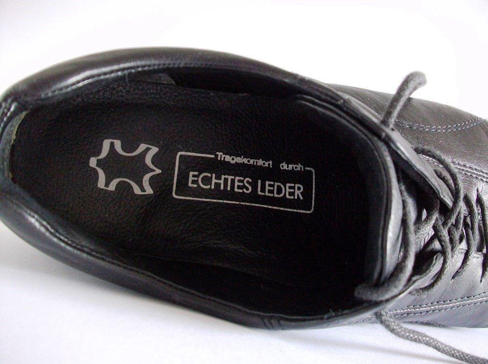 ECCO Damen Halbschuhe Größe 40 Echt Leder Schwarz NEUWERTIG