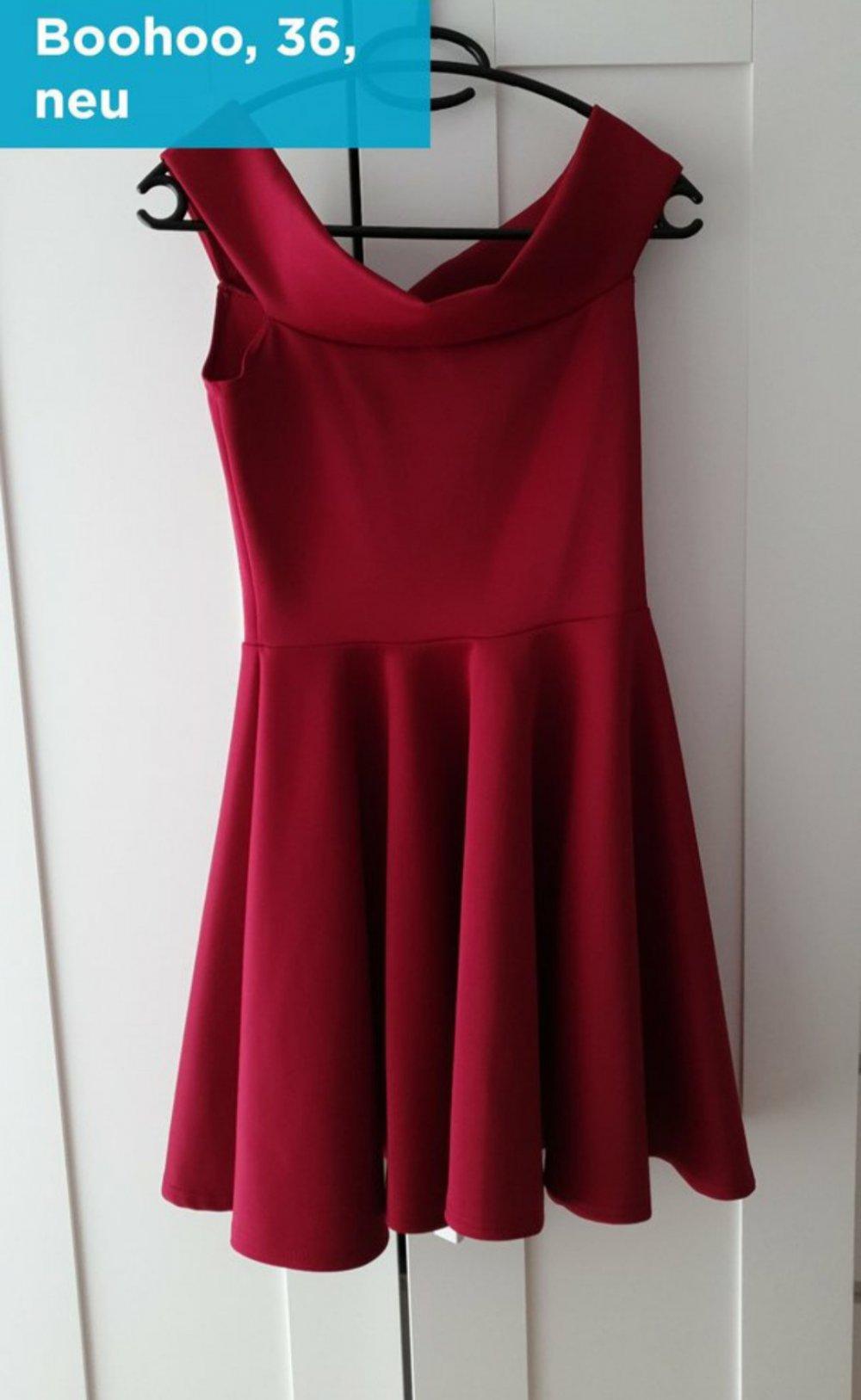 Rotes Kleid von Boohoo Grösse 11 NEU