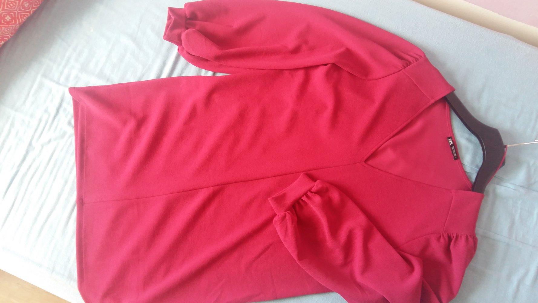rotes kleid zara