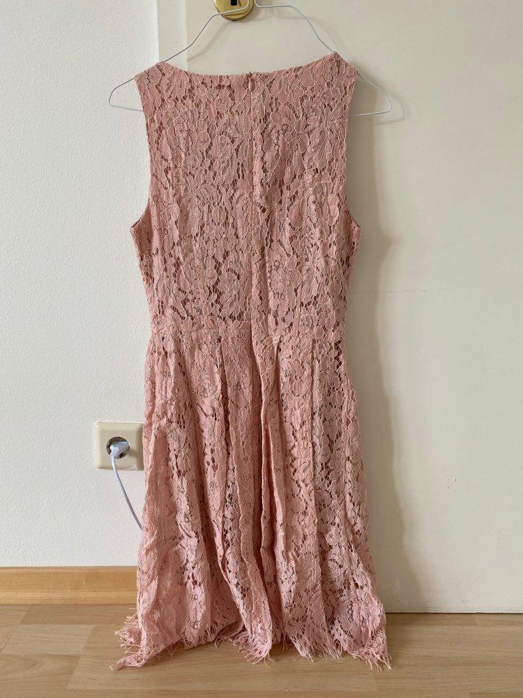 Mysassydream Susses Midi Kleid Aus Rosa Spitze Kleiderkorb De