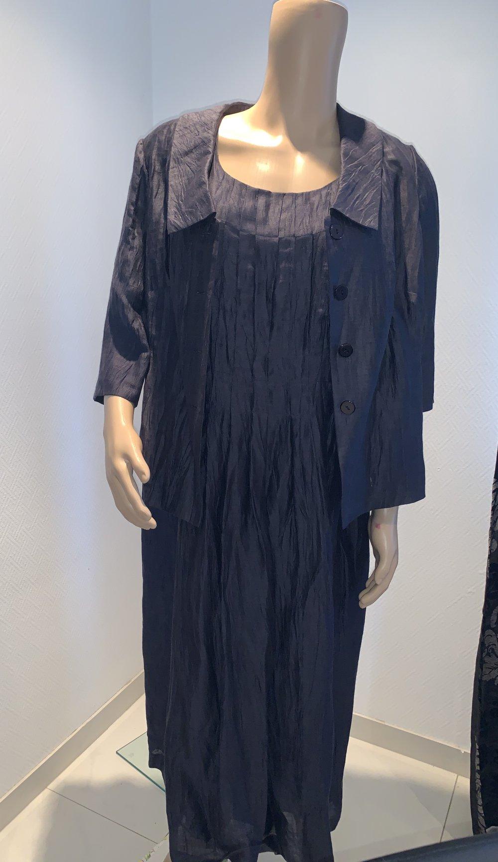 langes dunkelblaues Kleid Ulla Popken