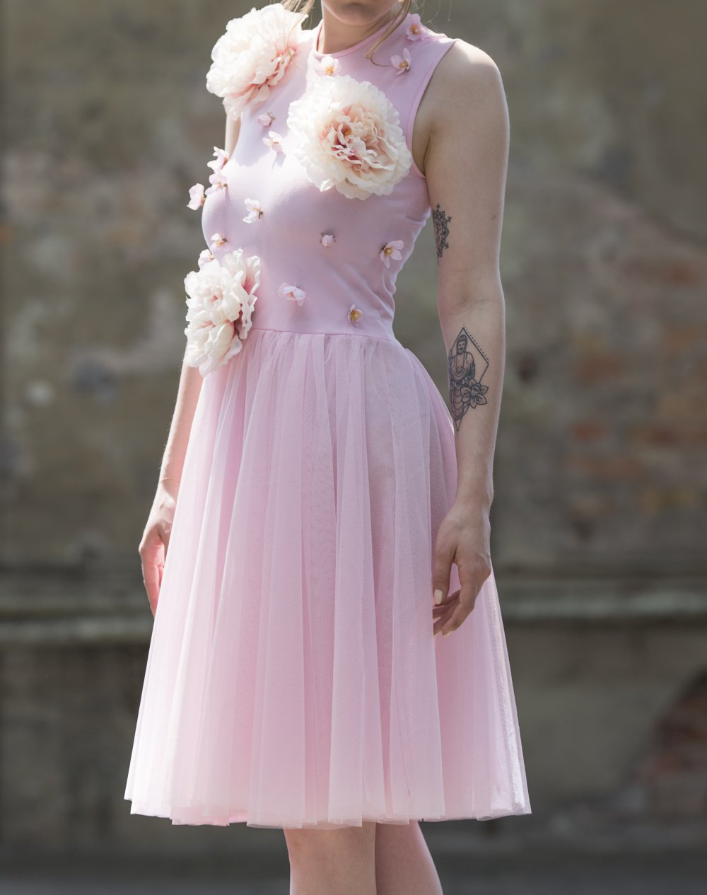 rosa abendkleid aus tüll