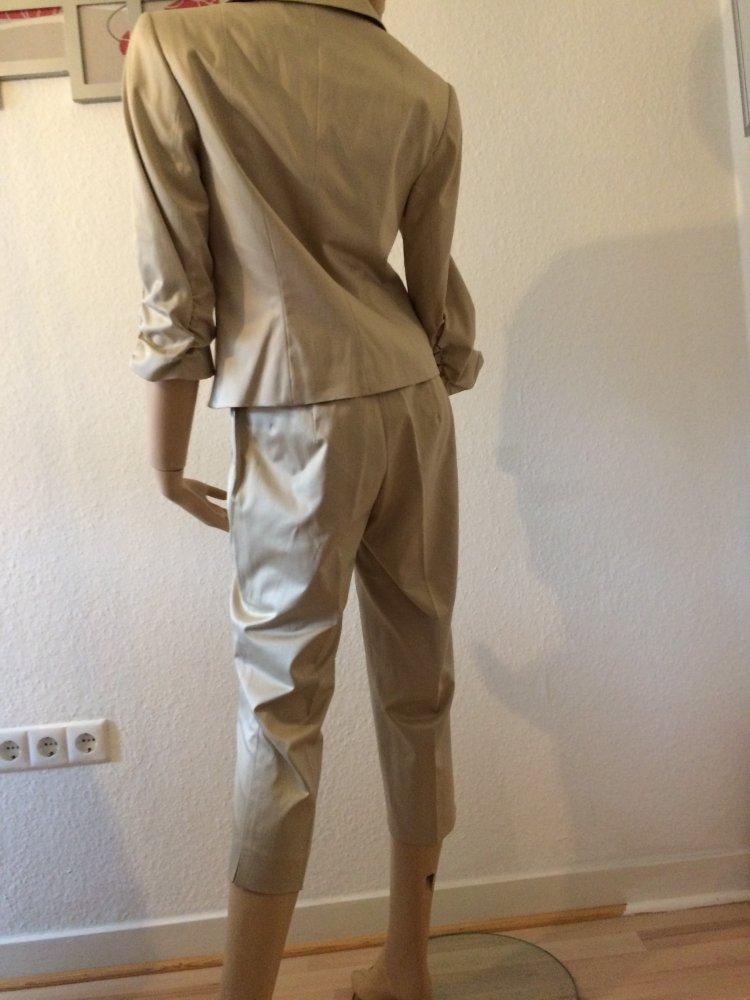 Heine Damen Anzug Goldfarben Abendgarderobe Gr 38 Kleiderkorb De