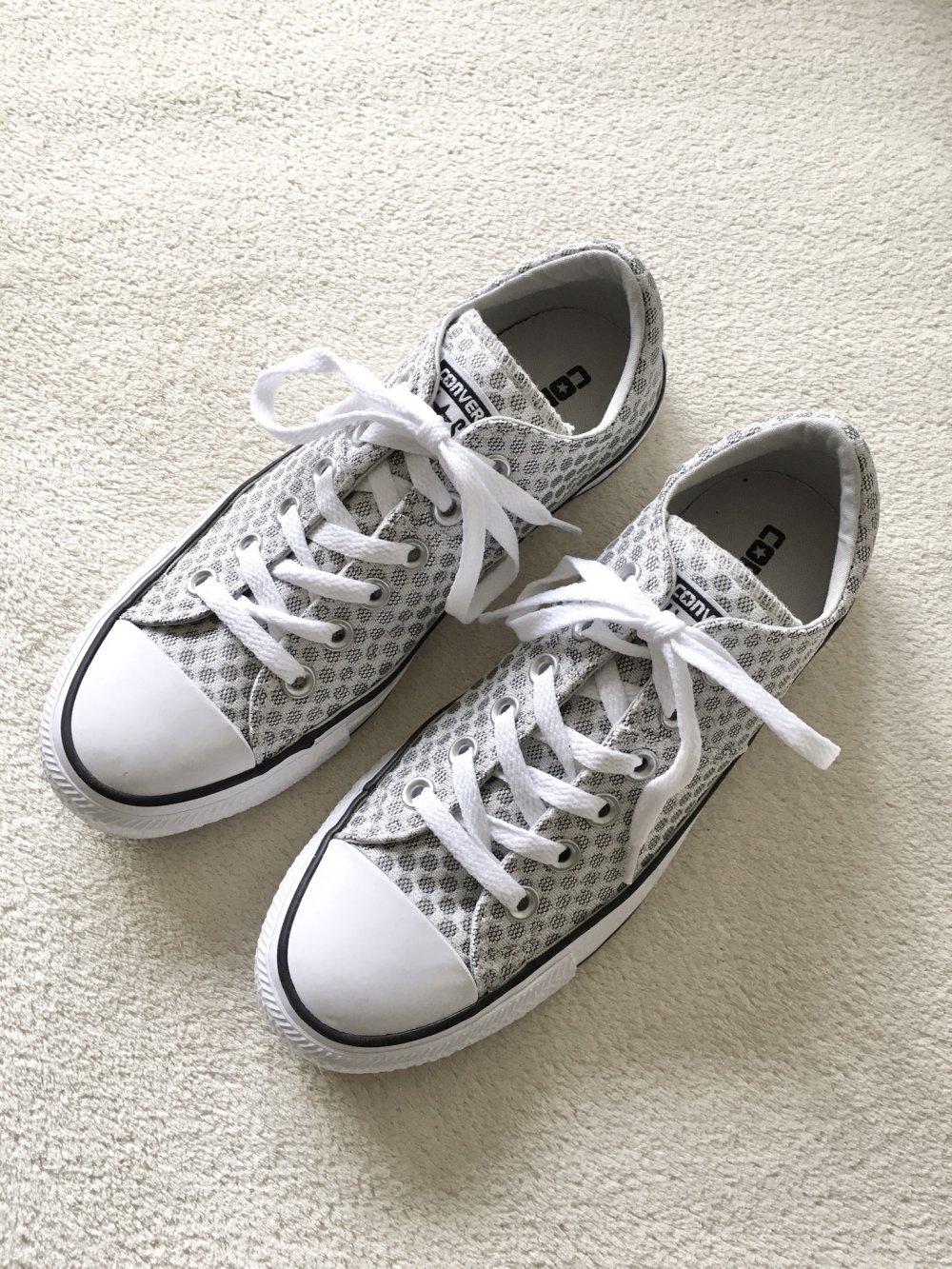Converse All Star Chucks silber grau weiß Gr. 37,5