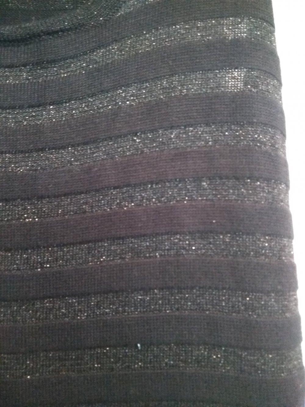 Kleid/ Partykleid schwarz-silber von Mango :: Kleiderkorb.de