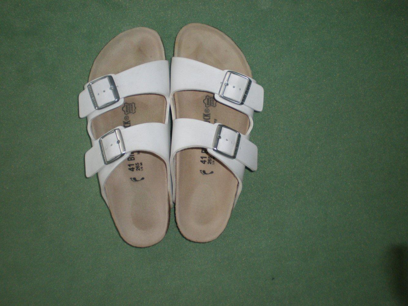 separation shoes ed9cf e6401 Birkenstock Arizona weiß, Größe 41, schmal