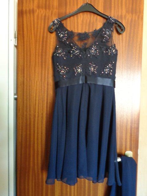 6b5e9ccf3d91c0 ... #Kleid festlich Gr. 36 dunkelblau mit Stola für Abiball, Hochzeit,  Party etc ...