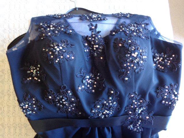 ...  Kleid festlich Gr. 36 dunkelblau mit Stola für Abiball, Hochzeit, ... 936335881c