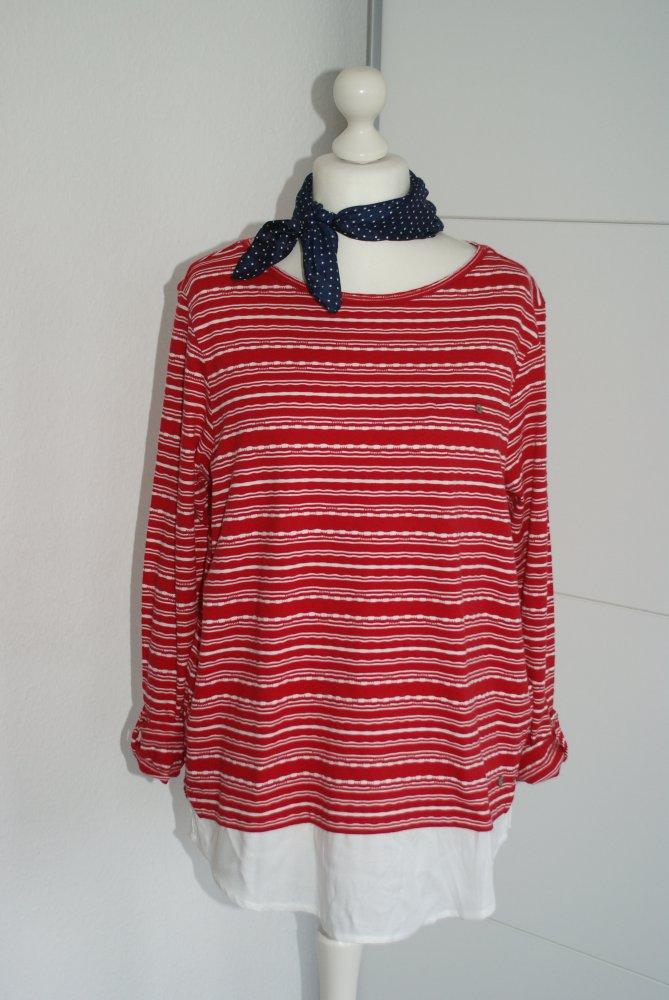 Cecil 2-in-1 Pullover mit Streifen rot weiss Gr XL    Kleiderkorb.de 4e0bc26cdc