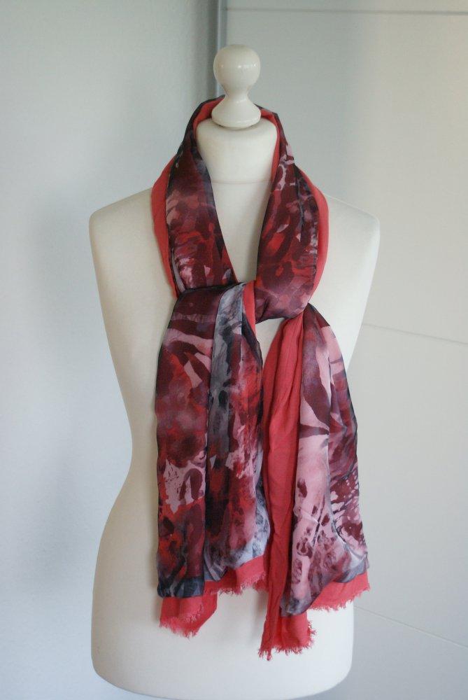 06ed0ac6c1ef38 sonstige - Schal Tuch lachs rot grau :: Kleiderkorb.de
